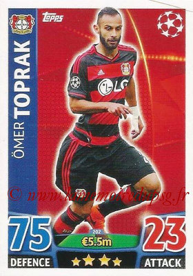 2015-16 - Topps UEFA Champions League Match Attax - N° 202 - Ömer TOPRAK (Bayer 04 Leverkusen)