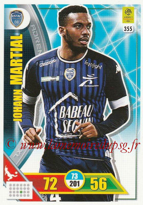2017-18 - Panini Adrenalyn XL Ligue 1 - N° 355 - Johann MARTIAL (Troyes)