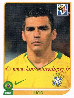 2010 - Panini FIFA World Cup South Africa Stickers - N° 489 - LUCIO (Brésil)