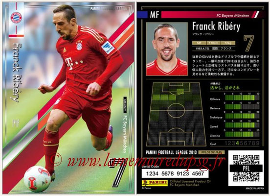 Panini Football League 2013 - PFL03 - N° 091 - Franck Ribery (Bayern Munich)