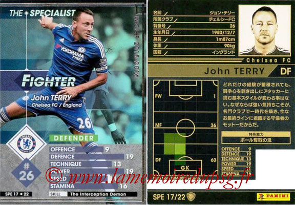 2015-16 - Panini WCCF - N° SPE17 - John TERRY (Chelsea FC) (The Specialist)