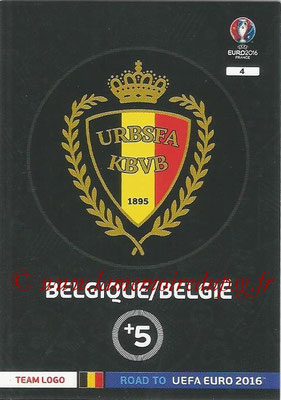 Panini Road to Euro 2016 Cards - N° 004 - Ecusson Belgique