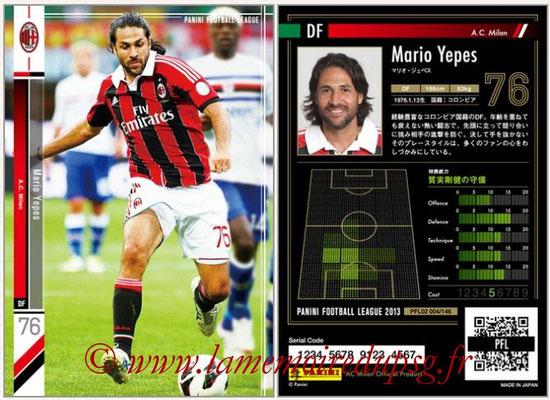 Panini Football League 2013 - PFL02 - N° 004 - Mario Yepes ( A.C. Milan )