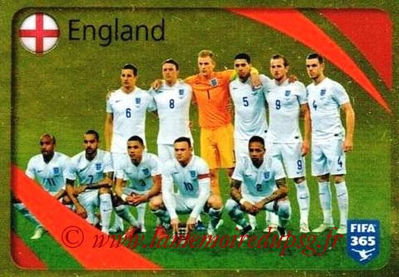 2015-16 - Panini FIFA 365 Stickers - N° 856 - Angleterre (Brillante)