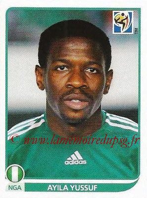2010 - Panini FIFA World Cup South Africa Stickers - N° 134 - Ayila YUSSUF (Nigeria)