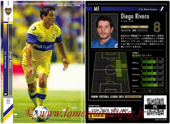 Panini Football League 2013 - PFL01 - N° 116 - Diego Rivero ( C.A. Boca Juniors )