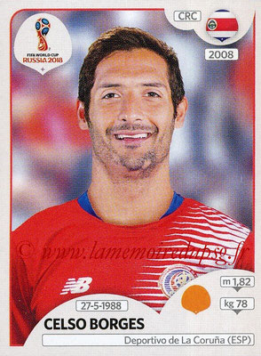2018 - Panini FIFA World Cup Russia Stickers - N° 404 - Celso BORGES (Costa Rica)