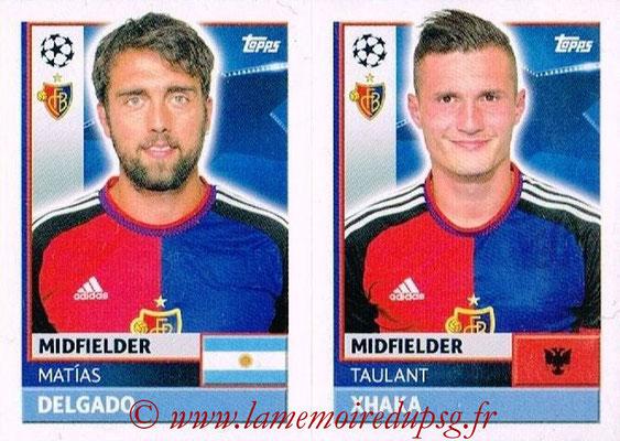 2016-17 - Topps UEFA Champions League Stickers - N° BAS 12-13 - Taulant XHAKA + Matias DELGADO (FC Basel 1893)