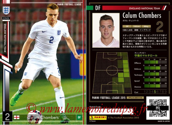Panini Football League 2015 - PFL14 - N° 087 - Calum CHAMBERS (Angleterre)