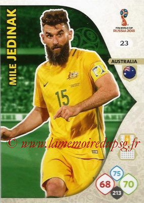 2018 - Panini FIFA World Cup Russia Adrenalyn XL - N° 023 - Mile JEDINAK (Australie)
