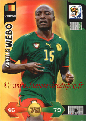 2010 - Panini FIFA World Cup South Africa Adrenalyn XL - N° 059 - Achille WEBO (Cameroun)