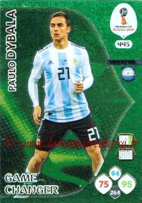 2018 - Panini FIFA World Cup Russia Adrenalyn XL - N° 445 - Paulo DYBALA (Argentine) (Game Changer)