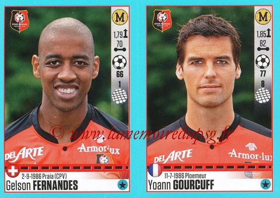 2016-17 - Panini Ligue 1 Stickers - N° 746 + 747 - Gelson FERNANDES + Yoann GOURCUFF (Rennes)