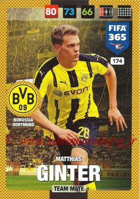 2016-17 - Panini Adrenalyn XL FIFA 365 - N° 174 - Matthias GINTER (Borussia Dortmund)