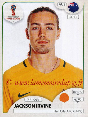 2018 - Panini FIFA World Cup Russia Stickers - N° 226 - Jackson IRVINE (Australie)