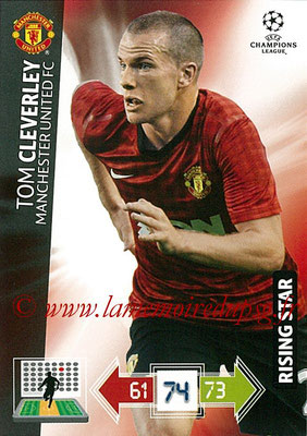 2012-13 - Adrenalyn XL champions League N° 141 - Tom CLEVERLEY (Manchester United FC) (Rising Star)