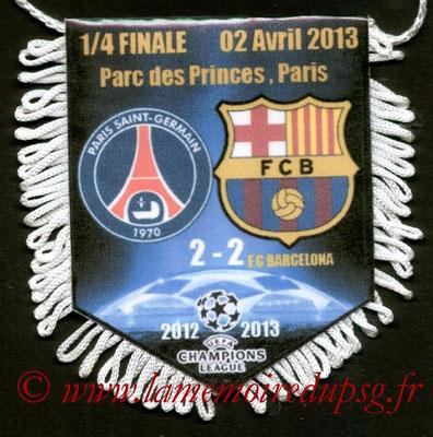 Fanion  PSG-Barcelone  2012-13