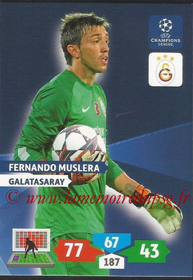 2013-14 - Adrenalyn XL champions League N° 136 - Fernando MUSLERA (Galatasaray AS)
