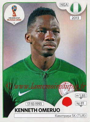 2018 - Panini FIFA World Cup Russia Stickers - N° 339 - Kenneth OMERUO (Nigeria)