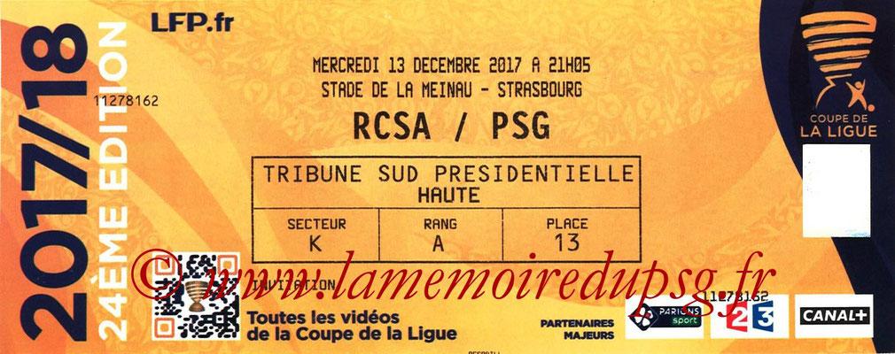 Ticket  Strasbourg-PSG  2017-18