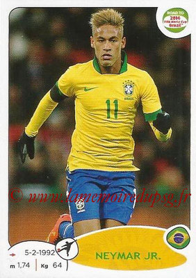 2014 - Panini Road to FIFA World Cup Brazil Stickers - N° 018 - NEYMAR JR. (Brésil)