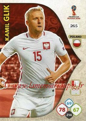 2018 - Panini FIFA World Cup Russia Adrenalyn XL - N° 265 - Kamil GLIK (Pologne)