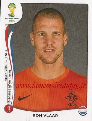 2014 - Panini FIFA World Cup Brazil Stickers - N° 132 - Ron VLAAR (Pays-Bas)