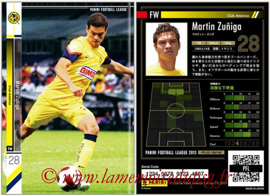 Panini Football League 2013 - PFL02 - N° 126 - Martin Zuniga ( Club America )