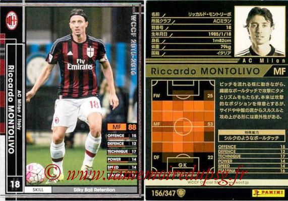 2015-16 - Panini WCCF - N° 156 - Riccardo MONTOLIVO (Milan AC)