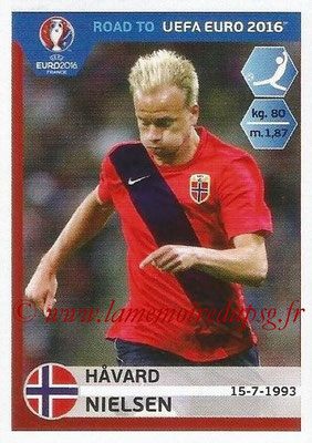 Panini Road to Euro 2016 Stickers - N° 191 - Havard NIELSEN (Norvège)