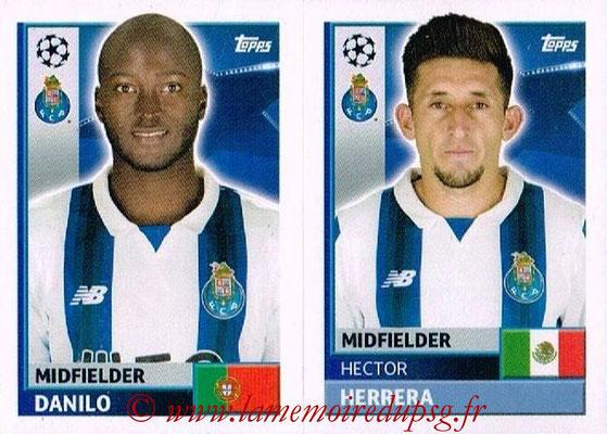2016-17 - Topps UEFA Champions League Stickers - N° QFJ 9-10 - Héctor HERRERA + DANILO (FC Porto)