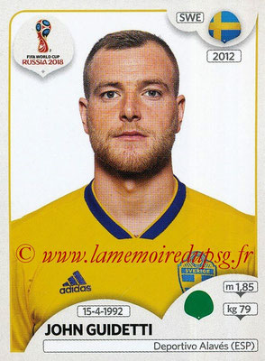 2018 - Panini FIFA World Cup Russia Stickers - N° 490 - John GUIDETTI (Suede)
