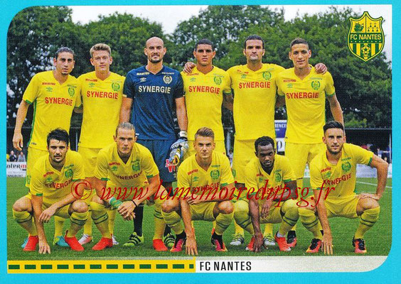 2016-17 - Panini Ligue 1 Stickers - N° 592 - Equipe Nantes