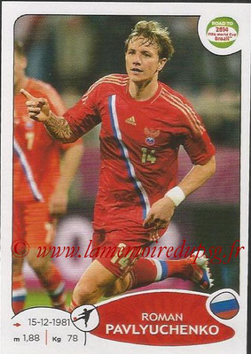 2014 - Panini Road to FIFA World Cup Brazil Stickers - N° 338 - Roman PAVLYUCHENKO (Russie)