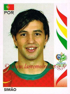 2006 - Panini FIFA World Cup Germany Stickers - N° 296 - SIMAO (Portugal)