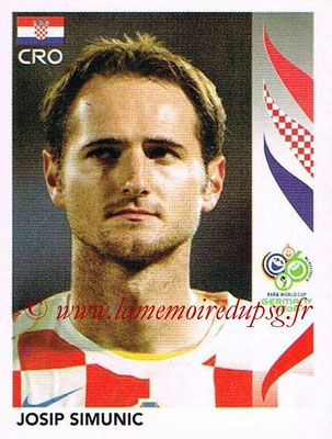 2006 - Panini FIFA World Cup Germany Stickers - N° 402 - Josip SIMUNIC (Croatie)