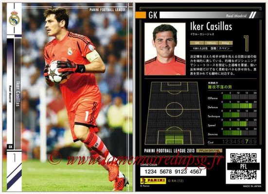 Panini Football League 2013 - PFL04 - N° 041 - Iker CASILLAS (Real Madrid)