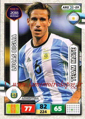 2018 - Panini Road to FIFA World Cup Russia Adrenalyn XL - N° ARG09 - Lucas BIGLIA (Argentine)