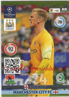 2014-15 - Adrenalyn XL champions League N° 270 - Joe HART (Manchester City FC) ( Fans' Favourite)