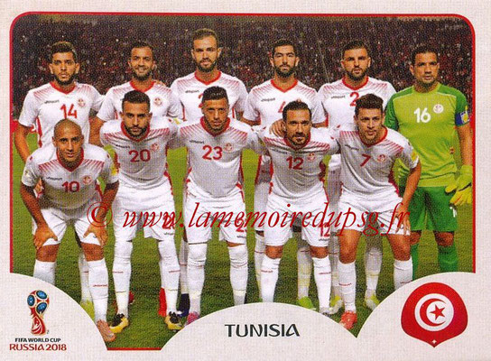 2018 - Panini FIFA World Cup Russia Stickers - N° 553 - Equipe Tunisie