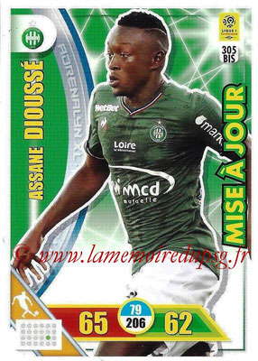 2017-18 - Panini Adrenalyn XL Ligue 1 - N° 305bis - Assane DIOUSSE (Saint-Etienne) (Mise à jour)