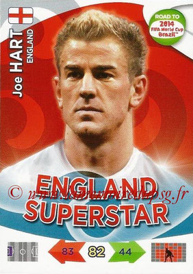 2014 - Panini Road to FIFA World Cup Brazil Adrenalyn XL - N° 061 - Joe HART (Angleterre)