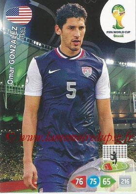 2014 - Panini FIFA World Cup Brazil Adrenalyn XL - N° 319 - Omar GONZALEZ (Etats-Unis)