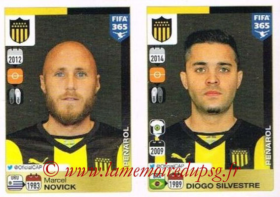 2015-16 - Panini FIFA 365 Stickers - N° 845-846 - Marcel NOVICK + Diogo SILVESTRE (Penarol)