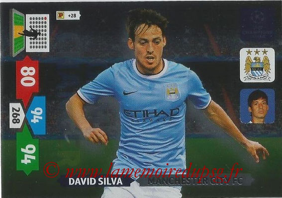 2013-14 - Adrenalyn XL champions League N° 343 - David SILVA (Manchester City FC) (Game Changer)