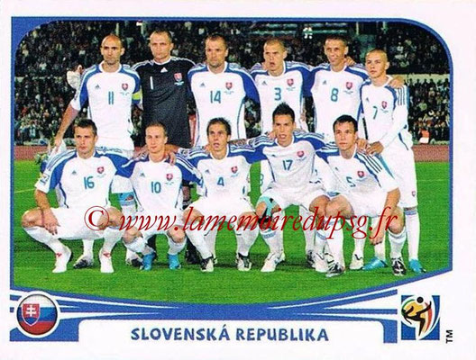 2010 - Panini FIFA World Cup South Africa Stickers - N° 467 - Équipe Slovaquie
