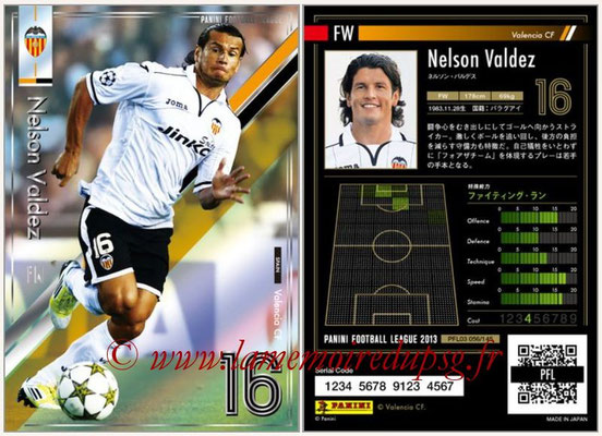 Panini Football League 2013 - PFL03 - N° 056 - Nelson Valdez (FC Valence)