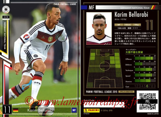 Panini Football League 2015 - PFL14 - N° 084 - Karim BELLARABI (Allemagne)