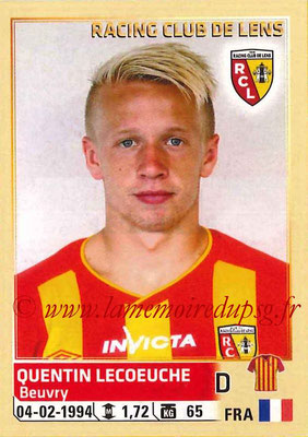 2014-15 - Panini Ligue 1 Stickers - N° 133 - Quentin LECOEUCHE (RC Lens)