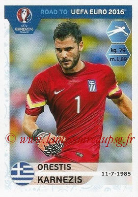Panini Road to Euro 2016 Stickers - N° 113 - Orestis KARNEZIS (Grèce)